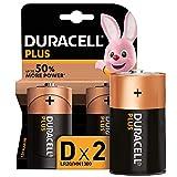 Duracell LR20 MN1300Plus D - Batterie Torcia Alcaline, Confezione da 2, 1.5 V, 2 Batterie