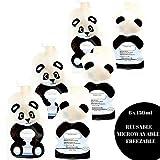 Fill n Squeeze le sac d'ouverture du fond réutilisable pour faciliter le nettoyage. 6x150 ml sachets (Panda)
