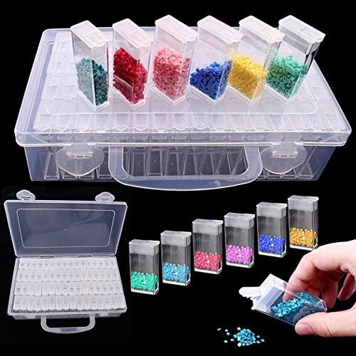 Caja de pintura de diamantes, Joyibay 64 rejillas Caja de