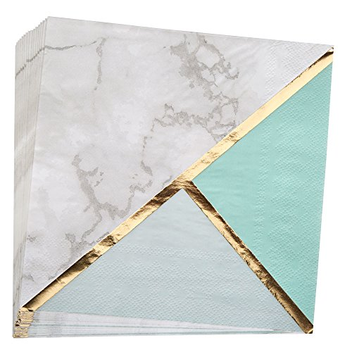 Neviti 772577 Colour Block Marble Serviette, mint