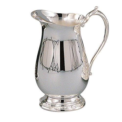 Elegance Silver 89803 Romantica Collection Silver Plated Water Pitcher, 64 oz.