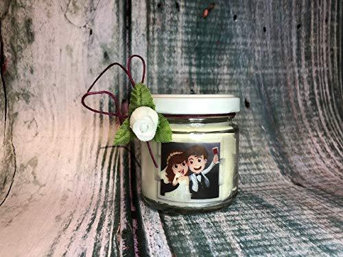 Matrimonio a tema Vino Bomboniera Sacchetto Segnaposto 25 o più candele confezionate (scritta sull'etichetta, sacchetto e confetti) Nozze vino rosso confettata cantina bottiglia decorazione etichetta