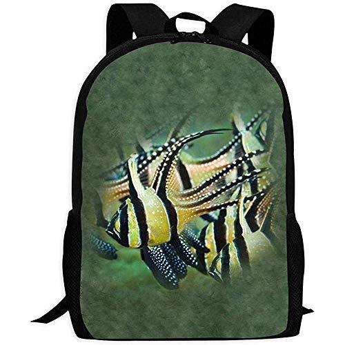Rucksack Clown Fish Bookbag Reisetasche Schultaschen Laptoptasche