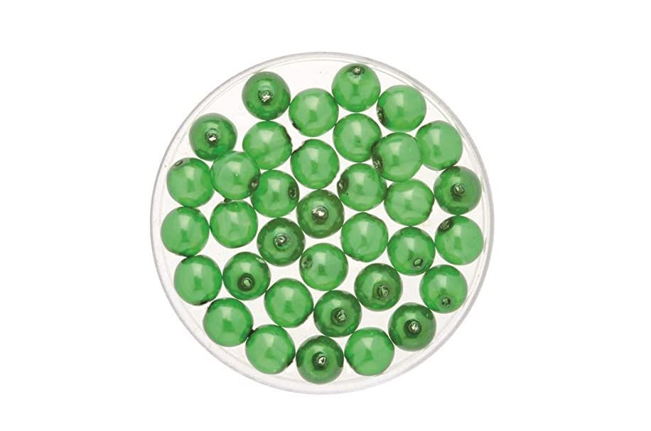 Glorex Czech Glass Peridot Glass Pearl 6?mm Wax (Pack of 50?4?x 4?x 1.5?cm