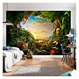 Tree Plants Flower Sunlights Jungle Forest Wallpaper Photo Wall Mural Home Bedroom Decoration 260cmx175cm