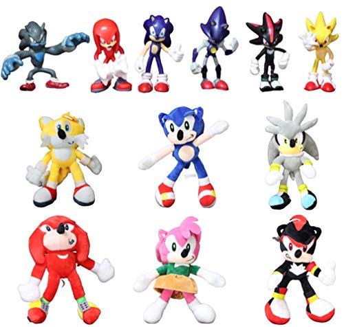 Sonic Toys 12 Pieces/Each Sonic Werehog Soft Doll Cartoon Animal Plush Doll Plush Toy Children's