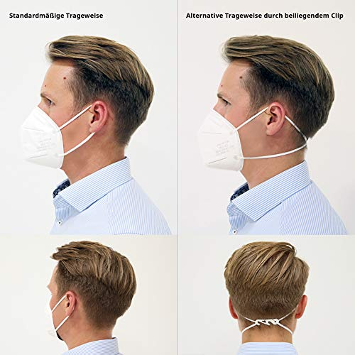 Siegmund 20 Stück Atemschutzmaske nach FFP2-Norm Mundschutz CE zertifiziert - 5