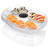 DEAYOU 4 Section Ice Serving Tray, Cold Serving Tray...