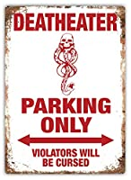 デスイーターパーキングのみウォールメタルポスターレトロプラーク警告ブリキサインヴィンテージ鉄絵画装飾オフィスベッドルームリビングルームクラブのための面白いハンギングクラフト