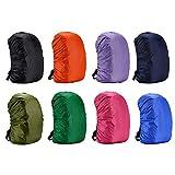 Rungao 35L Protector Cubierta de lluvia Impermeable para mochila, para caminar al aire libre, camping, negro