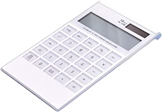حاسبة مزدوجة الطاقة الشمسية طالب حاسبة كبيرة زر حاسبة إلكترونية 12 رقمة، منتجات متجر المكتب الأبيض