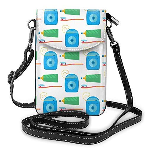 Leder Telefon Geldbörse, Zahnarzt Zahnpasta Medizinische Werkzeuge Gesundheitswesen Medizin Kleine Umhängetasche Mini Handy Tasche Schultertasche Für Frauen