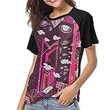 fenglinghua Camisetas para Mujeres MGMT Womens Women's Baseball Short Sleeves Sport Short Sleeve Sport Men's Baseball T-Shirt Unique Design Top