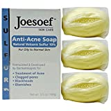Joesoef Anti-Acne Soap, Natural Volcanic Sulfur 10%, for...