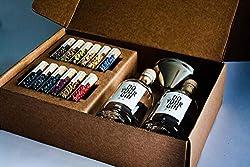 Original DIY Gin-Set zum selber-machen | DO YOUR GIN bekannt aus Sat1, Vogue, Spiegel | 12 frische Botanicals in Gläsern | Craft-Gin in persönlichen Flaschen | Ausgefallene Geschenk-Idee