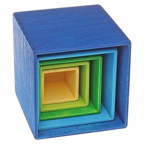 Grimm's kleiner Kistensatz bunt aussen blau - 4