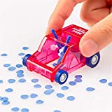 BREAQG Cute Mini Car Table Dust Cleaning Trolley Keyboard Desktop Dust Cleaner Confetti Pencil Eraser Dust Sweeper for Home Office (Red)