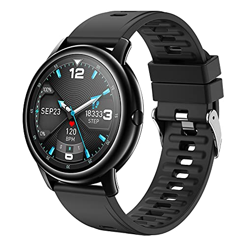 Smartwatch per Android IOS Phones, IDEALROYAL Orologio Intelligente Uomo Donna Fitness Tracker con Cardiofrequenzimetro, Monitor del Sonno, Contapassi, Impermeabile IP68 & Touch Screen (nero)