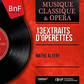 13 Extraits d'opérettes (Mono Version)