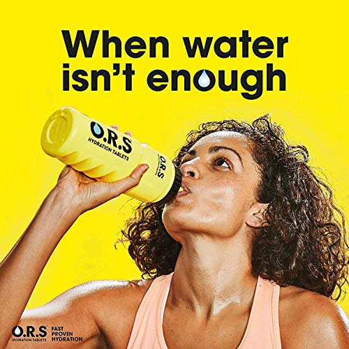 O.R.S Hydration Tablets with Electrolytes, Vegan, Gluten and Lactose Free Formula - Natural Mixed Berry Flavour, 80 Tablets, (Pack of 4)