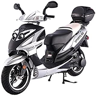 Brand new BIG SIZE 150cc Fully Automatic Street Legal Gas Scooter - Black / Silver