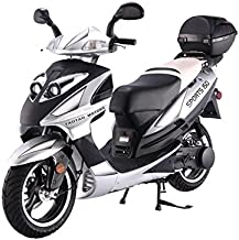 SMART DEALSNOW Brings Brand New 150cc Gas Fully Automatic Street Legal Scooter TaoTao 150cc with Matching Trunk - SPORTY BLACK