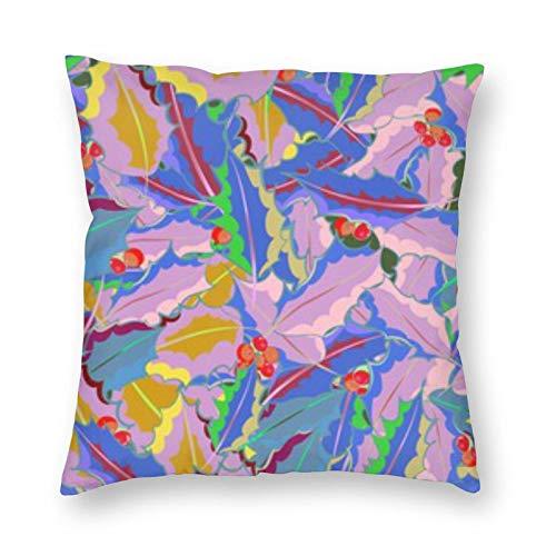 BONRI Tropical Flowers Multicolor Almohada Cuadrada 26 'X26 Funda de Almohada Cuadrada Decoración, Descanso cómodo y Relajante, cálido compañerismo