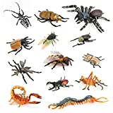 Insect Toys Figurines VOLNAU 13PCS Bug Toys Figure Pack for Kids Toddlers Christmas Birthday Educational Bee Beetle Spider Plastic Model