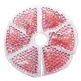 Supvox Brustpflege Brust Therapie Pack Thermopad Eisbeutel Thermoperlen Wärmekissen für Brust Wiederverwendbare Gel Pad 2 Stücke (Rosa)