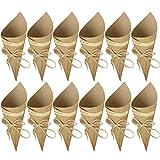 Gosear 50 PCS Boda Arroz, Retro Kraft Paper Cones...