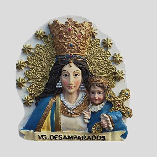 MUYU Magnet Virgen María Estatua de Farias Festival Valencia España Imán de Nevera Recuerdo Colección de Regalos Hogar y Cocina Decoración Etiqueta Magnética