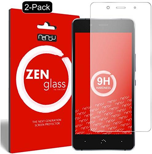 ZenGlass [2 Stück Flexible Glas-Folie kompatibel mit BQ Aquaris X5 Plus Panzerfolie I Bildschirm-Schutzfolie 9H