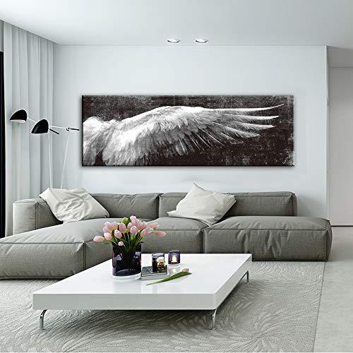 xinyouzhihi Angel Wings Canvas Painting Poster Print Fotos en Wall Art Living Room Dormitorio Decoraciones para el hogar 50x150cm Sin Marco