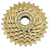 Ligera Bicicletas Volante de Velocidad Variable de posicionamiento Multi-Velocidad del Volante 6/7 Velocidad de Giro de Paseo Equipmen (Color : 6 Speed Brown)