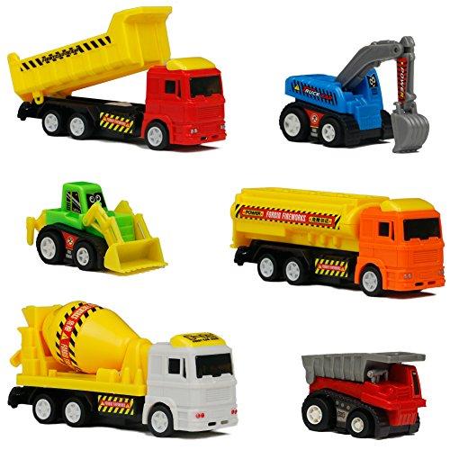 Auto Giocattolo Veicoli Camion Giocattoli Macchine per Bambini 3 Anni, 6 Pezzi