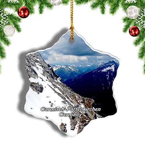 Weekino Deutschland Zugspitze Garmisch-Partenkirchen Weihnachten Anhänger Baum Weihnachtsdeko Baumschmuck zum Hängen Reiseandenken