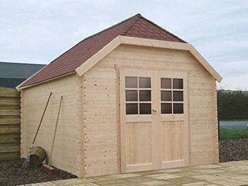 Gartenhaus Kesseldruckimprägniert Ribes S8505-1 - 28 mm Blockbohlenhaus, kesseldruckimprägniert, Grundfläche: 11,56 m², Satteldach