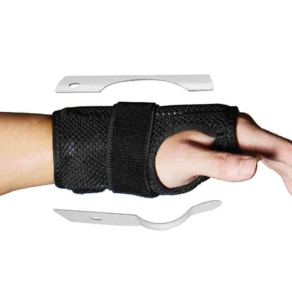 コンベンション動ショートカットトリガーのための親指のスプリント親指の通気性のファブリック手首の親指腱鞘炎脳手根管症候群のためのリストバンドスプリントママの親指ブレース関節炎 Roscloud@