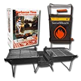 Mr. Flame Son of Hibachi Portable Vintage Cast Iron Charcoal Grill |...