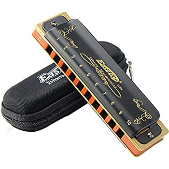 Easttop 10 Hole Diatonic T008K Harmonica Blues Mouth Organ Key of C Musical Instrument Harmonica