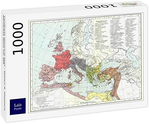 Lais Puzzle Mapa del Atlas Histórico - William R. Shepherd Imperio Romano Alrededor del 395 1000 Piezas