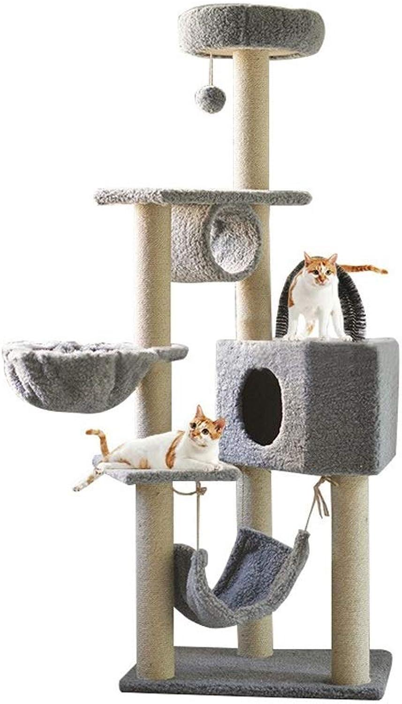 Alppq Pet Cave Cat Climbing Frame Four Floors Large Luxury Cat Toy Pet Cat Litter Pet Bed Warm Luxury Cave Bed Comfort Plush Pet Bed Soft Warm Cotton Plush Pet Cat Litter Cat Scratch Board