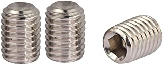 YXQ M8x12mm 1.25mm Pitch Hex Socket Set Screws Full Thread Cup Point Allen Socket Drive(24Pcs)