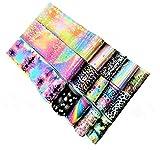 Fogli di Trasferimento per Unghie, Fiore cielo stellato metallizzato Trasferimento Adesivo Decalcomanie Holographic Nail Stickers Decorazione, 50 pezzi di colori diversi