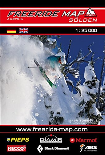 Freeride Map Sölden: Maßstab 1:25 000