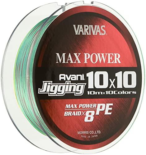VARIVAS(バリバス) PEライン アバニ ジギング10×10 マックスパワーPE X8 400m 4号 64lb 8本 10色