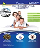 RV Short Queen Mattress Protector 60' Wx75 Lx9 D - Bedbug Waterproof Zippered Encasement Hypoallergenic Premium Quality Cover Protects Against Dust Mites Allergens