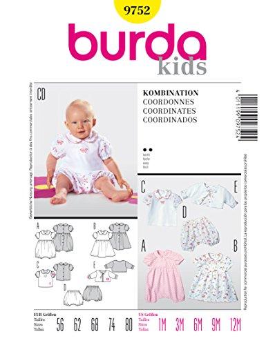 Burda Schnittmuster 9752 Baby Gr. 56-80