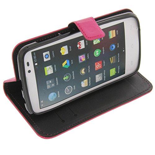 Tasche für Mobistel Cynus T6 Book Style pink Schutz Hülle Buch