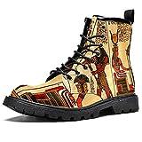 Antiguo Egipto, botas de senderismo elegantes para hombre, de cuero duradero, impermeables y antides...